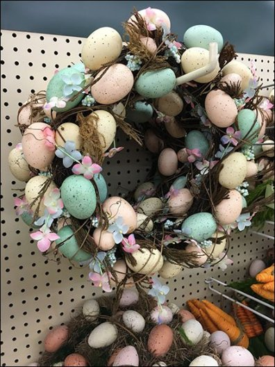 Easter Egg Wreaths Pegboard Hooked 3