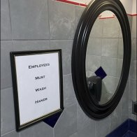Employees Must Wash in a Fancy Frame Main