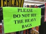 Everlast Heavy Boxing Bag Warning Aux
