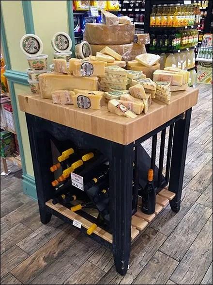 Gourmanoff Wine and Cheese Merchandising Island Main