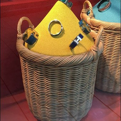 Hermes Color Sands Wicker Baskets 2