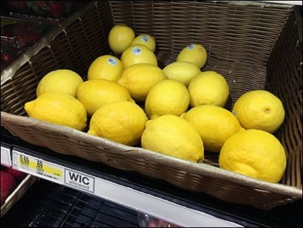 Lemon, Lime & Lemon-Lime Wicker Display 1