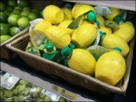 Lemon, Lime & Lemon-Lime Wicker Display 3