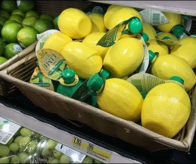 Lemon, Lime & Lemon-Lime Wicker Display 3