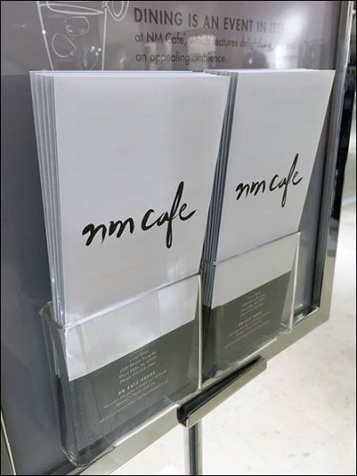Neiman Marcus Cafe Menu-To-Go 1