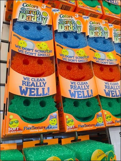 Scrub Daddy Smiley Face Slatwall Hooked 3