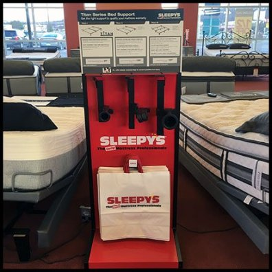 sleepys bed frame merchandising 1 - Sleepys Bed Frame