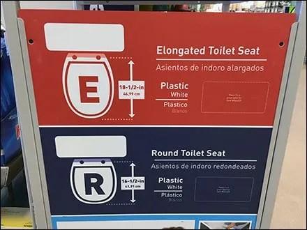 Toilet Seat Sizing Instructions