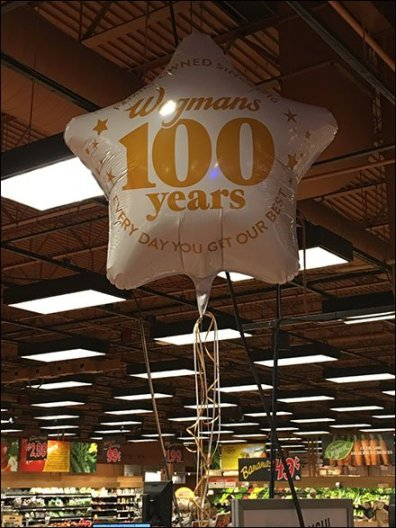 Wegmans 100th Anniversay Inflatable 2