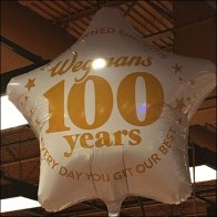 Wegmans 100th Anniversay Inflatable Square
