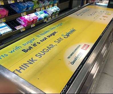 Weis Cashwrap Conveyor Advertising 1