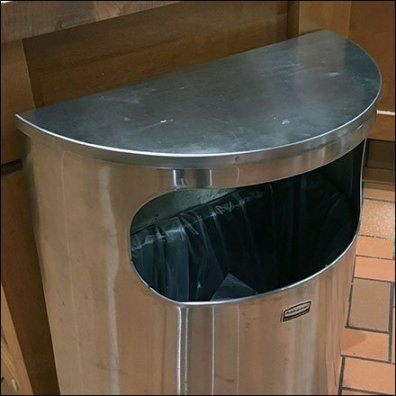 Wide Mouth Semi-Circular Waste Bin Main