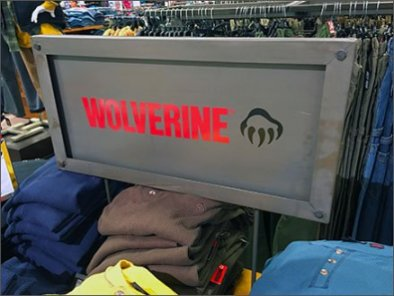 Wolverine Metal Plate Branded Sign 3