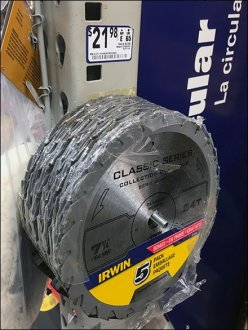Circular Saw Blade Pallet Rack Upright Hanger 1