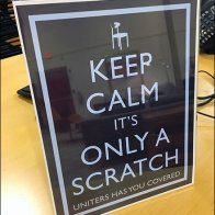 Dane Decore Uniters Keep Calm Only Scratch Overall