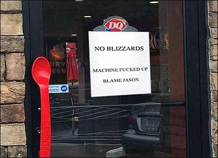 DQ Branded Excuse: Blame Jason