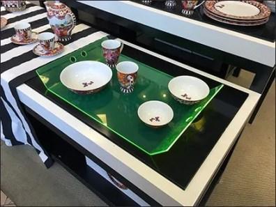 Edge-Lit Acrylic Tray Macys Tableware 1