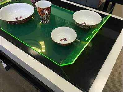 Edge-Lit Acrylic Tray Macys Tableware 2
