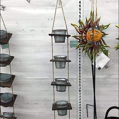 Galvanized Pail Strip Merchandiser for Spring 4