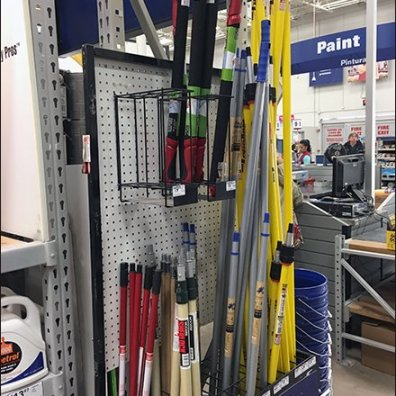 Half-Height Extension Pole Merchandisers 2