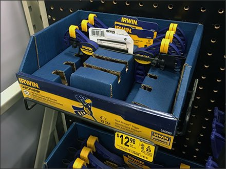 Irwin Quick Clamp Pegboard Tray 1