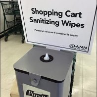 Purell Sanitizer Station With Store Presence at JoAnn