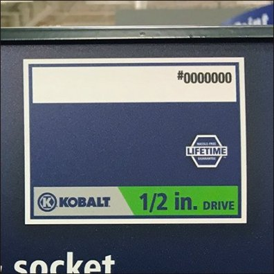 Kobalt Sockets For Life Tool Guarantee