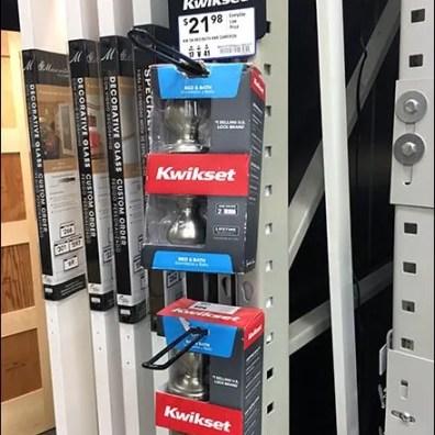 Kwickset Door Knob Loop Hook Strip Merchandiser 2