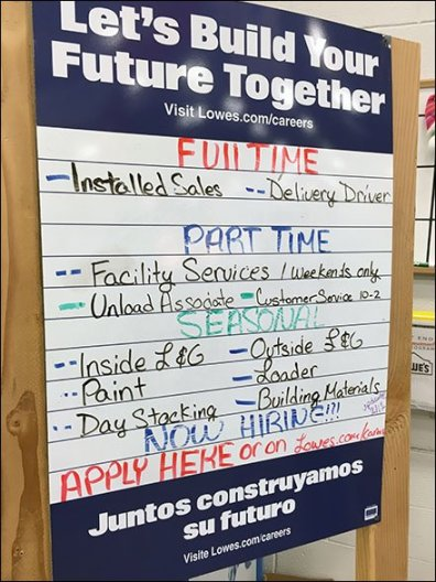 Lowes Multilingual Hiring Easel 3