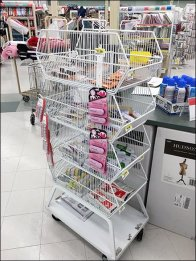 Wire Basket Tower Caster-Equipped