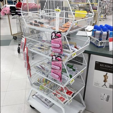 Mobile Wire Basket Tower on Casters 1