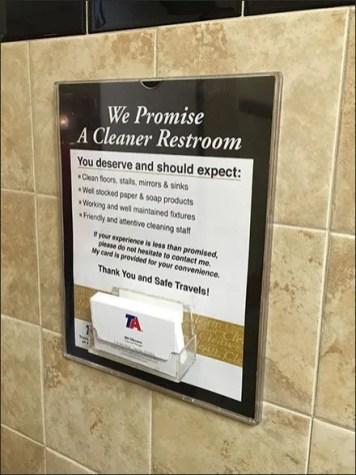 Restroom Pledge Travel Centers of America Main