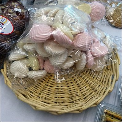 Armenian Meringue Cookies Wicker Plate Feature
