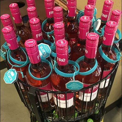 Fre White Zinfandel Circular Rack 3