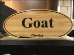 Goat Cheese Cooler Display Masthead Sign