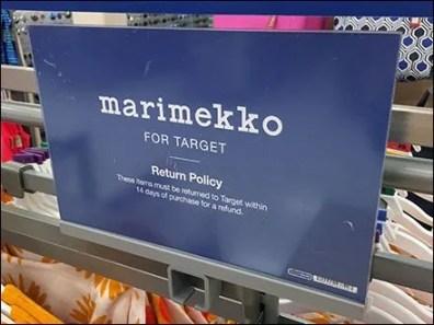 Marimekko Return Policy 1