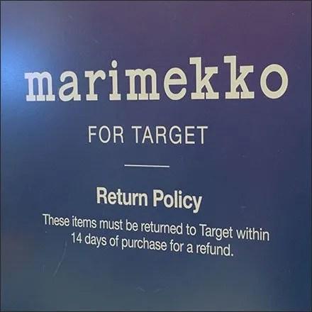 Marimekko Return Policy Store Fixtures