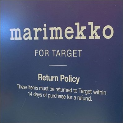 Marimekko Return Policy Feature