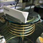 Prada Coil Table Display Feature