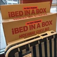 Sleepys Corrugated iBed-In-A-Box Hideaway Merchandising