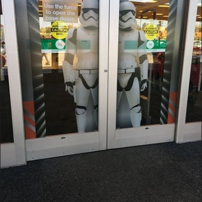 Star Wars Trooper Door Cling Display 1