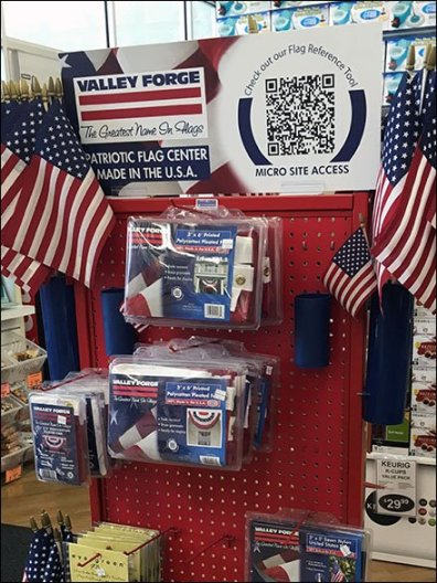 Valley Forge FreeStanding Flag Merchandiser 2