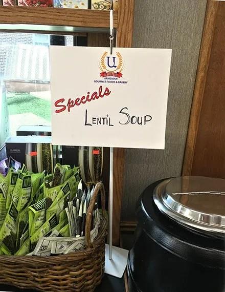 Arenie Lentil Soup Alligator Clip Front