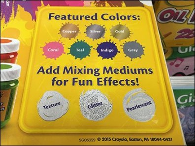 Crayola Color Coded Gravity Feed Display 5