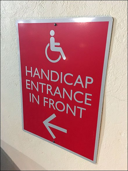 Dane Decor Handicap Entrance is That-A-Way Directional