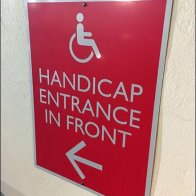 Dane Decor Handicapped Entrance In Front
