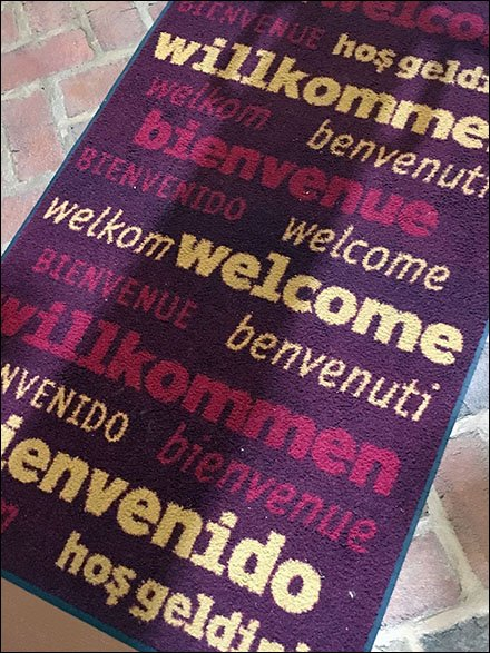 Affordable Dane Decor Welcome Mat Angled With Dane Decor.