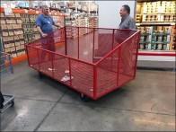 Mobile Expanded Metal Bulk Bin for Warehouse Club