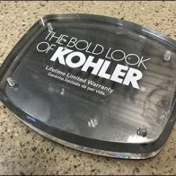 Bold Look of Kohler Brands Showroom Slatwall Logo Plaque
