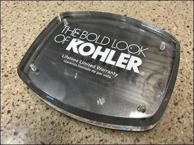 Bold Look of Kohler Brands Showroom Slatwall Logo Plaque